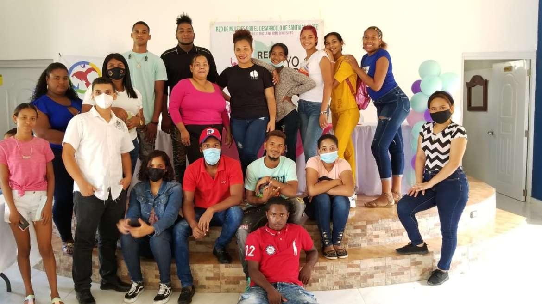 Jóvenes participantes del curso de formación